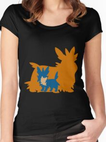 PKMN Silhouette - Lillipup Family Women's Fitted Scoop T-Shirt