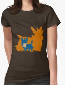 PKMN Silhouette - Lillipup Family Womens Fitted T-Shirt