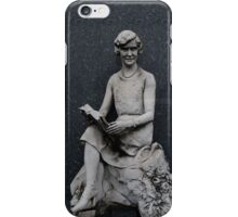 Stone Girl Reading iPhone Case/Skin