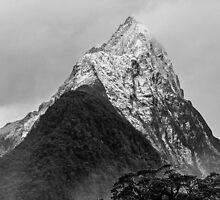 Mitre Peak - Milford Sound, New Zealand by Matthew Kocin
