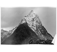 Mitre Peak - Milford Sound, New Zealand Poster