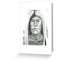 Borrado Indian woman Greeting Card