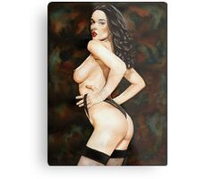 Black-haired Beauty - Night theme Metal Print
