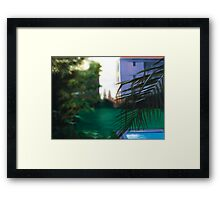 Harbour Glimpse. Framed Print