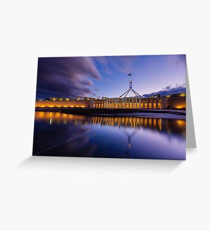 Australian Parliament Landscape Greeting Card