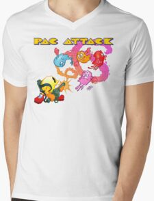 Pac Attack 2.0 Mens V-Neck T-Shirt