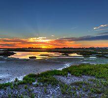 Rio Formosa Sunset by manateevoyager