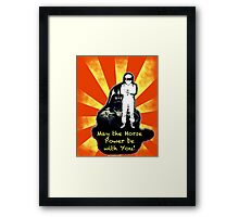 May The Horse Power Be With You... Framed Print