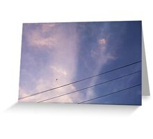 Airplane (Dawn) 24 10 12 Greeting Card