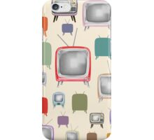 vintage television pattern iPhone Case/Skin