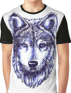 Timber Wolf - Blue Graphic T-Shirt