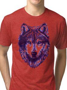 Timber Wolf - Blue Tri-blend T-Shirt