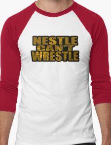 Nestle Can't Wrestle Men's Baseball ¾ T-Shirt