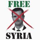Free Syria Activist T-shirt  by obskura