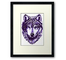 Timber Wolf-Purple Framed Print