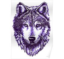 Timber Wolf-Purple Poster