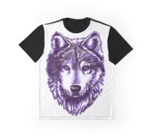 Timber Wolf-Purple Graphic T-Shirt