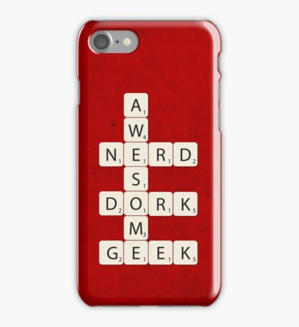 Awesome Scrabble iPhone Case/Skin