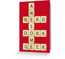 Awesome Scrabble Greeting Card