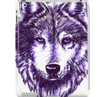 Timber Wolf-Purple iPad Case/Skin