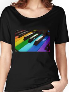 Piano color Women's Relaxed Fit T-Shirt
