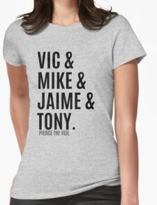 Vic &  Mike & Jaime & Tony Womens Fitted T-Shirt