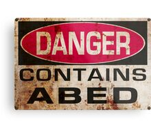 DANGER! Contains nerd Metal Print