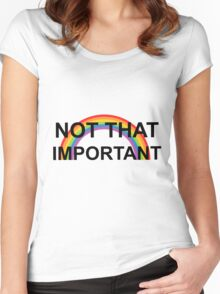 not that important- harry styles Women's Fitted Scoop T-Shirt