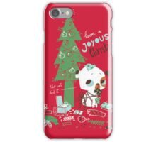 The cat did it  - Christmas card iPhone Case/Skin