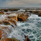 Sea Covered Rocks by Sharon Brown