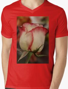 Peppermint Rose Mens V-Neck T-Shirt