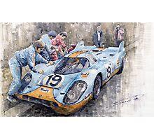 Porsche 917 K GULF Le Mans 1971 Mueller Attwood Photographic Print