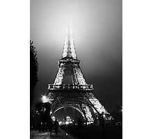Eiffel Tower in Fog, Paris, France Photographic Print