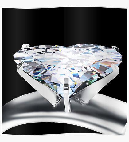 heart diamond ring Poster