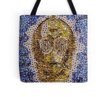 The Trusty Golden Robot - Bottle Cap Mosaic Tote Bag