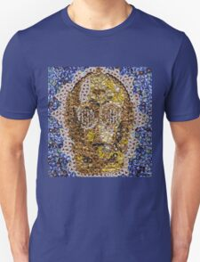 The Trusty Golden Robot - Bottle Cap Mosaic T-Shirt