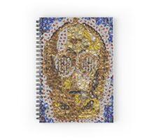 The Trusty Golden Robot - Bottle Cap Mosaic Spiral Notebook