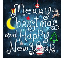 Merry christmas and Happy new year Photographic Print