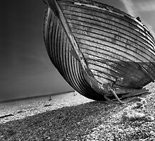 dungeness  fishing boat  by Dean Bedding