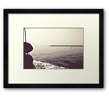 From the boat Framed Print