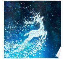 Reindeer stars Poster