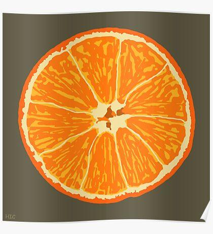 orange brown Poster