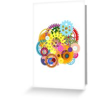 colorful gears Greeting Card