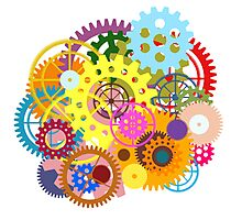 colorful gears Photographic Print