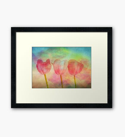 """Tulips 2 (from """"Painted flowers"""" collection) Framed Print"""
