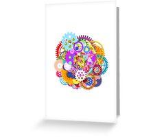 gears wheel Greeting Card