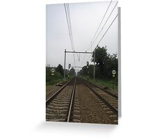 The railroad Greeting Card