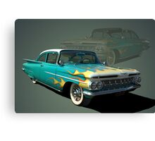 1959 Chevrolet with Flames Canvas Print