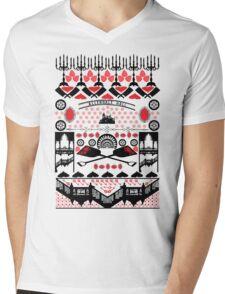 Crimson Peak Ugly Sweater Pattern Mens V-Neck T-Shirt