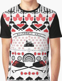 Crimson Peak Ugly Sweater Pattern Graphic T-Shirt